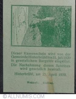 Imaginea #2 a 20 Heller 1920 - Hinterbrühl