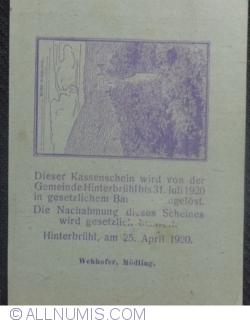 Imaginea #2 a 50 Heller 1920 - Hinterbrühl