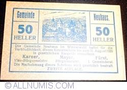 Imaginea #1 a 50 Heller ND - Neuhaus (A II-a emisiune - Zweite Auflage)