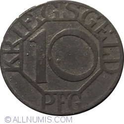 Image #1 of 10 Pfennig 1917 - Dortmund