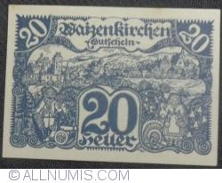 Imaginea #1 a 20 Heller 1920 - Waizenkirchen