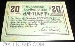 Imaginea #2 a 20 Heller 1920 - Ampflwang
