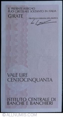 Imaginea #2 a 150 Lire 1977 (20. VII.) - Milano