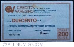 Image #1 of 200 Lire 1976 (15. XI.) - Varese