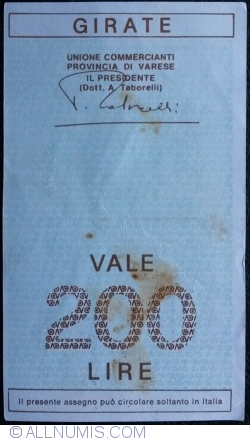 Image #2 of 200 Lire 1976 (15. XI.) - Varese