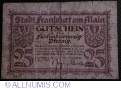 Image #2 of 25 Pfennig 1919 - Frankfurt am Main