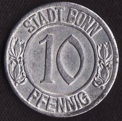 Image #1 of 10 Pfennig 1920 (Beethoven) - Bonn