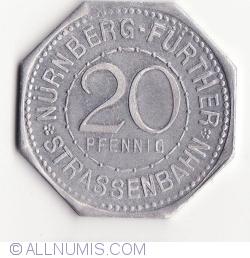 20 Pfennig ND(1921) (Albrecht Dürer) - Nürnberg Strassenbahn