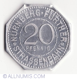 20 Pfennig ND(1921) (Henkersteg) - Nürnberg Strassenbahn