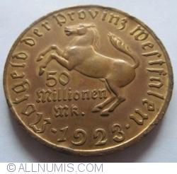 Image #1 of 50 000 000 (Milionen) Mark 1923 - Westfalen