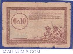 Imaginea #2 a 0.10 Franci 1923 (ND) - Régie des Chemins de Fer des Territoires occupés