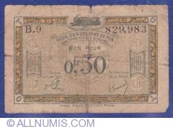 Imaginea #1 a 0.50 Franci 1923 (ND) - Régie des Chemins de Fer des Territoires occupés