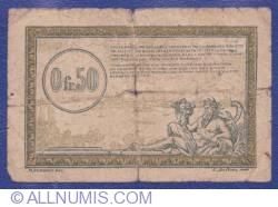 Imaginea #2 a 0.50 Franci 1923 (ND) - Régie des Chemins de Fer des Territoires occupés