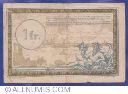 Imaginea #2 a 1 Franc 1923 (ND) - Régie des Chemins de Fer des Territoires occupés