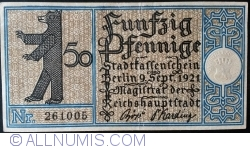 50 Pfennig 1921 (4) - Berlin