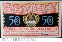 50 Pfennig 1921 - Zeulenroda