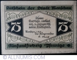 Imaginea #1 a 75 Pfennig 1921 - Monschau