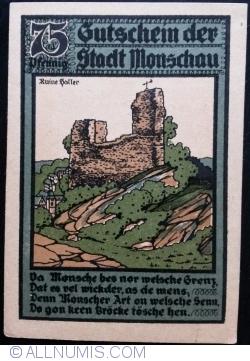 Imaginea #2 a 75 Pfennig 1921 - Monschau