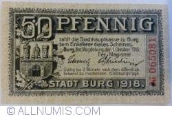 Image #1 of 50 Pfennig 1918 - Burg