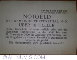 Imaginea #2 a 10 Heller ND - Ruppersthal (A II-a emisiune - II. Auflage)