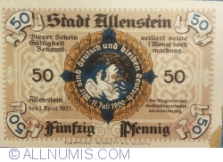 Image #1 of 50 Pfennig 1921 - Allenstein
