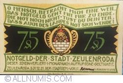Image #1 of 75 Pfennig 1921 - Zeulenroda