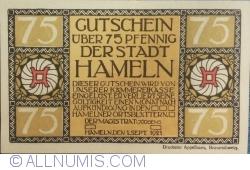 Image #2 of 75 Pfennig 1921 - Hameln