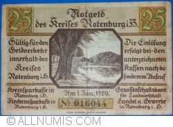 Image #2 of 25 Pfennig 1920 - Rotenburg