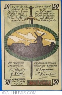 Image #2 of 50 Pfennig 1920 - Sonderburg