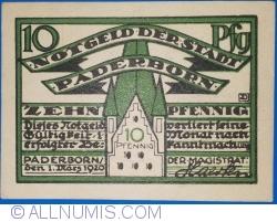 Image #1 of 10 Pfennig 1920 - Paderborn