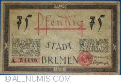 Image #2 of 75 Pfennig 1921 - Bremen