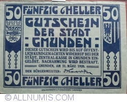 Image #2 of 50 Heller 1920 - Gmunden