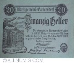Image #1 of 20 Heller 1920 - Purkersdorf