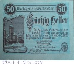 50 Heller 1920 - Purkersdorf