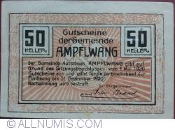 Imaginea #2 a 50 Heller 1920 - Ampflwang