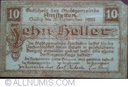10 Heller 1920 - Amstetten