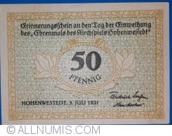 Image #2 of 50 Pfennig 1921 - Hohenwestedt