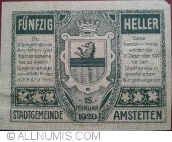 Image #2 of 50 Heller 1920 - Amstetten