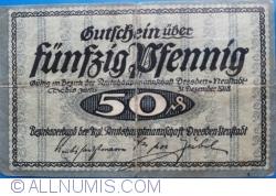 Image #1 of 50 Pfennig 1918 - Dresden-Neufstadt