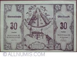 Imaginea #1 a 30 Heller 1920 - Dimbach