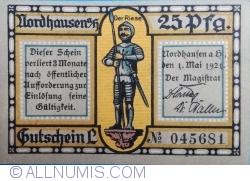 Imaginea #1 a 25 Pfennig 1921 - Nordhausen