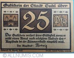Image #2 of 25 Pfennig ND - Suhl
