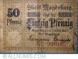 Imaginea #1 a 50 Pfennig 1917 - Magdeburg