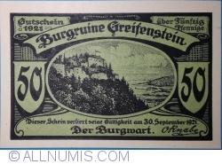 Image #1 of 50 Pfennig 1921 - Greifenstein