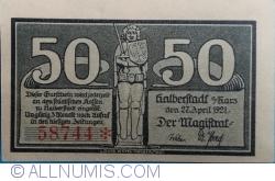 Imaginea #1 a 50 Pfennig 1921 - Halberstadt