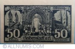 Imaginea #2 a 50 Pfennig 1921 - Halberstadt
