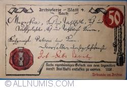 50 Pfennig 1921 - Mühlhausen