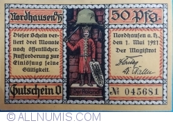 Imaginea #1 a 50 Pfennig 1921 - Nordhausen
