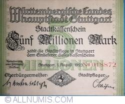 Image #1 of 5,000,000 Mark 1923 - Stuttgart
