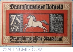 Image #1 of 75 Pfennig 1921 - Braunschweig